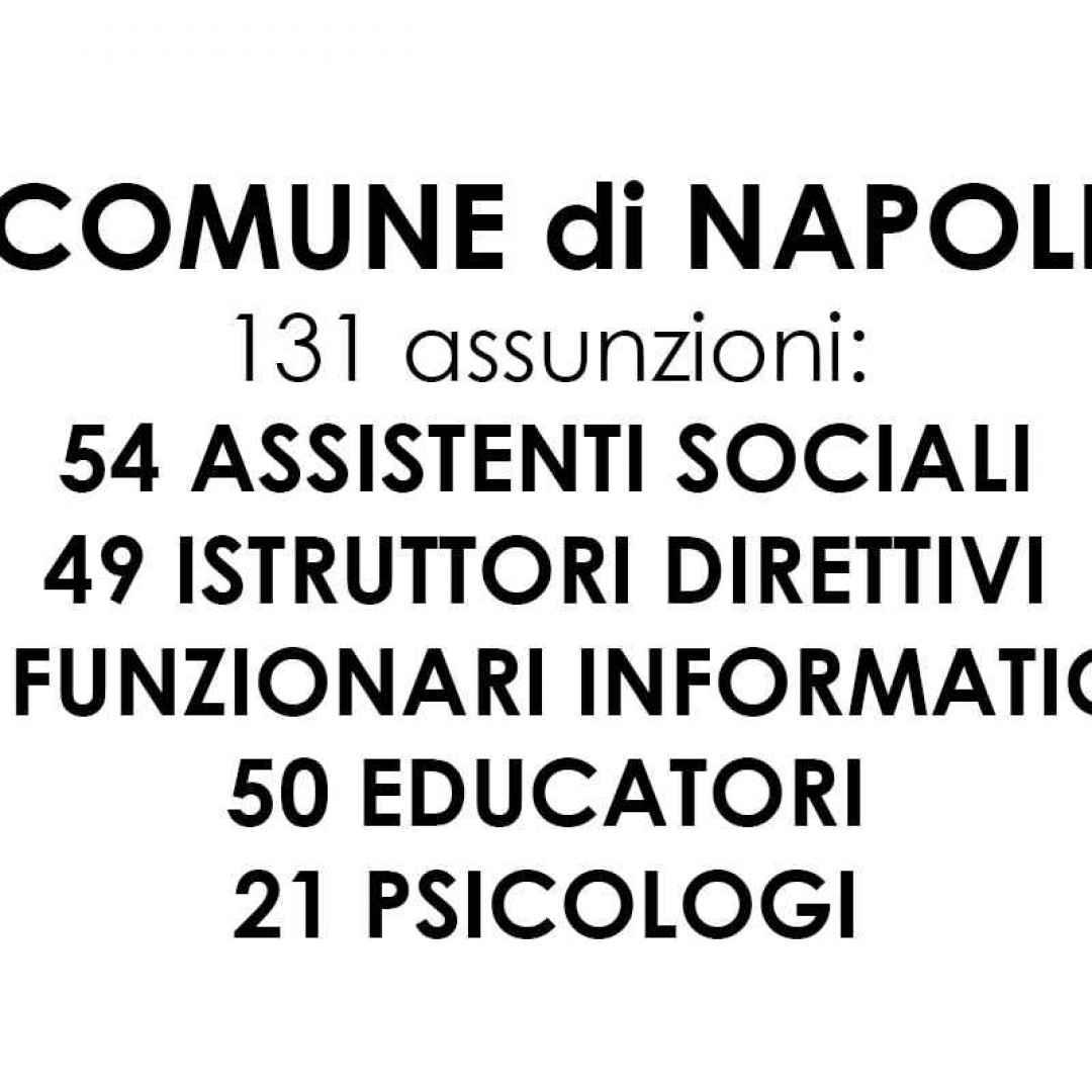 Comune Di Napoli Annunciato Il Concorso Pubblico Per 181