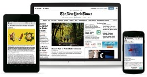 New York times on mobile devices