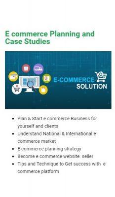 Learn E-commerce Planning