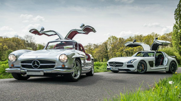 The AMG 300SL vs SLS Black Series