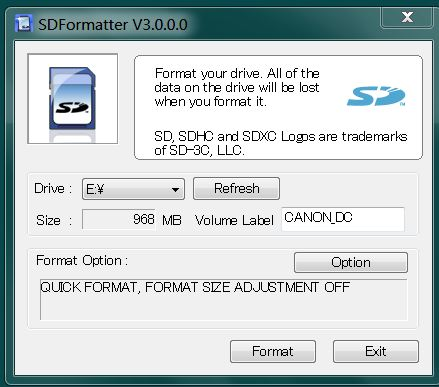 sd formater