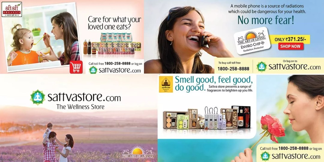 Generating website sales via Sattva Store – the official Art of Living Shop