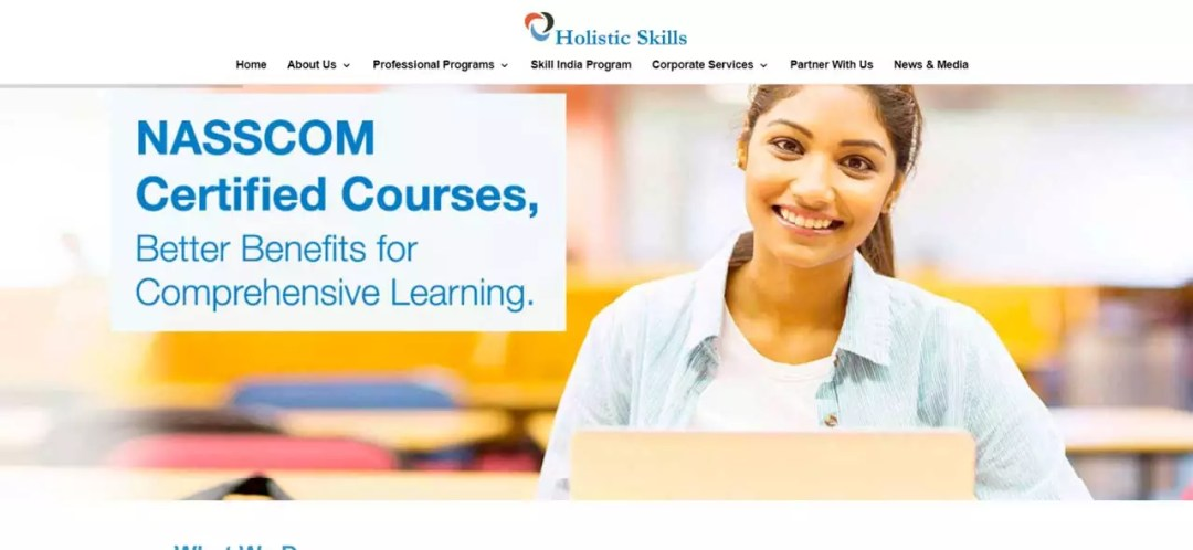 Created a Simple Static Website for An Educational Platform  | Holistic Skills