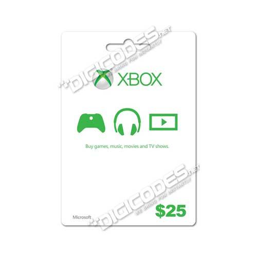 Jual XBOX Live Card / Microsoft Card US $25 (AutoCodes