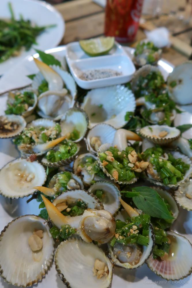 赤貝のニンニク炒め