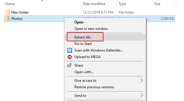One_drive_extract_folder