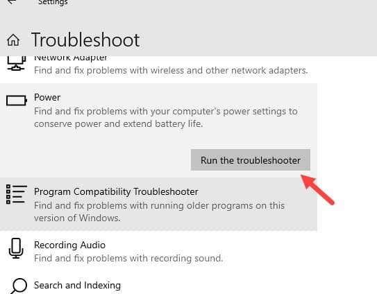 Run_power_troubleshooter