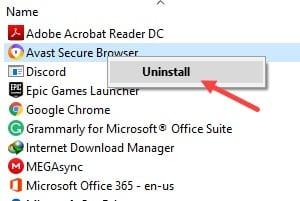 Uninstall_avast_browser
