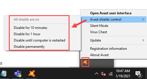 disable_avast_temporarily