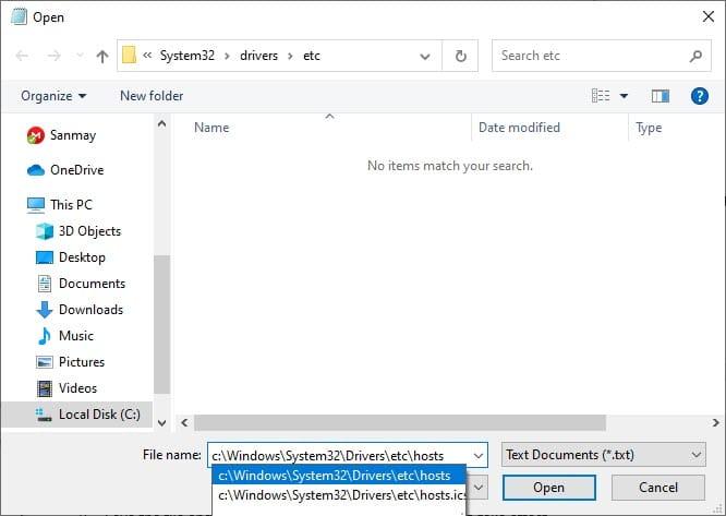open_windows_10_host_file