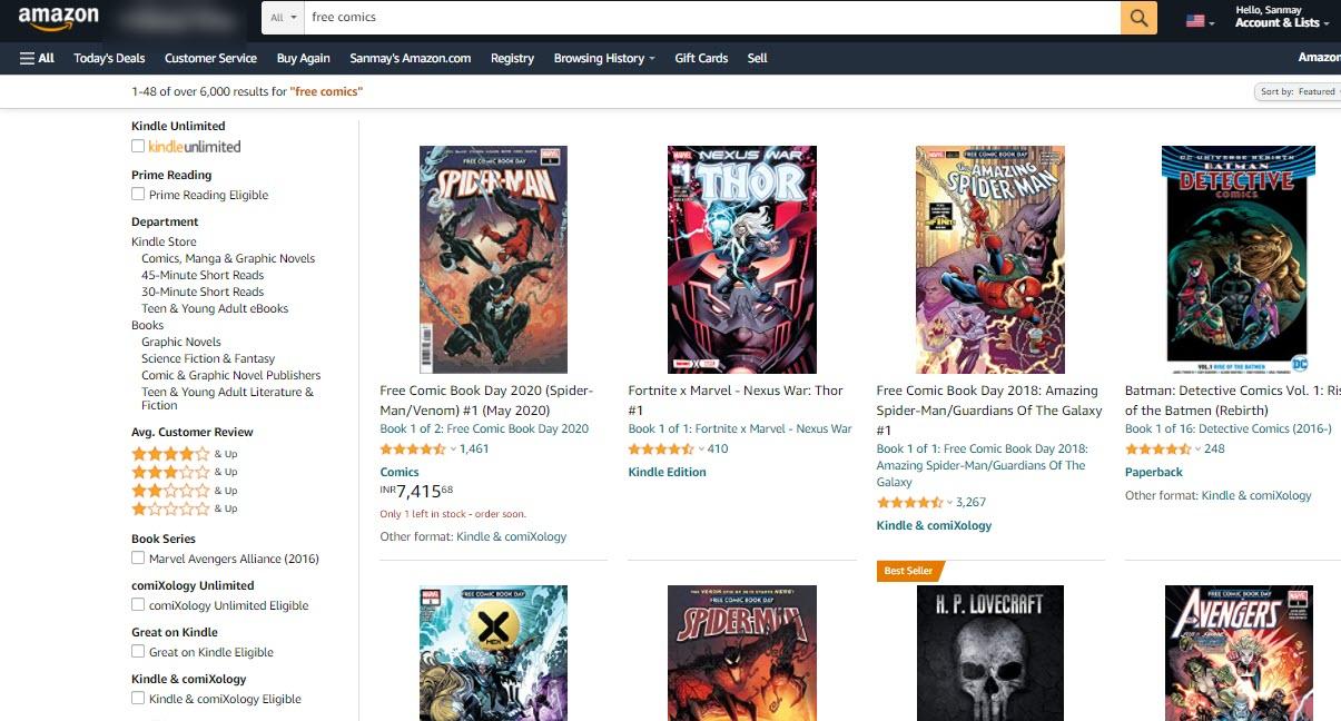 read_free_comics_on_amazon