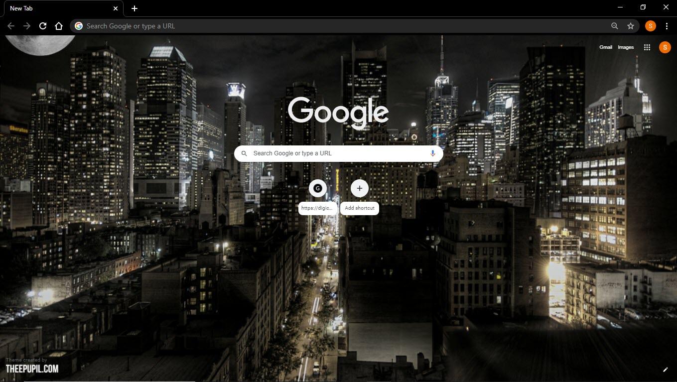 New_york_night_city_Google_Chrome_theme