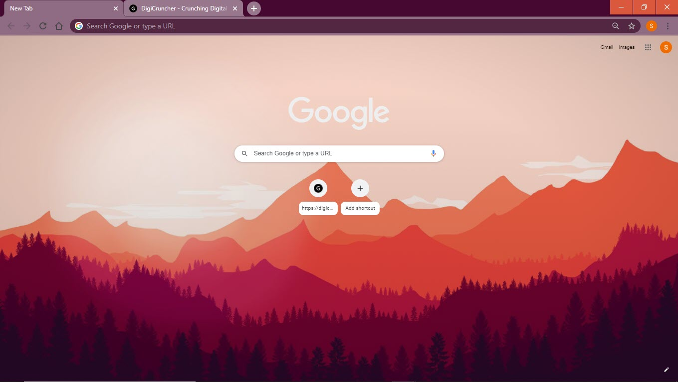 orange_flat_landscape_best_google_chrome_theme