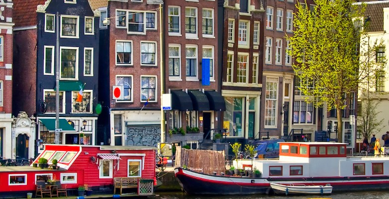 Classical Amsterdam view.