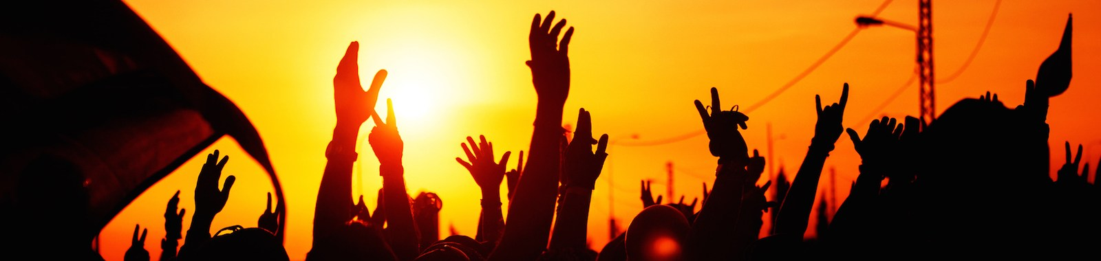 Revolution, people protest against government, man fighting for rights, silhouettes of hands up in the sky, threat of war