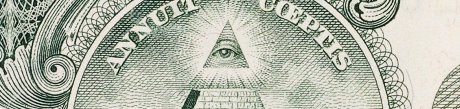 Eye of Providence - close up of the one dollar bill banknote.