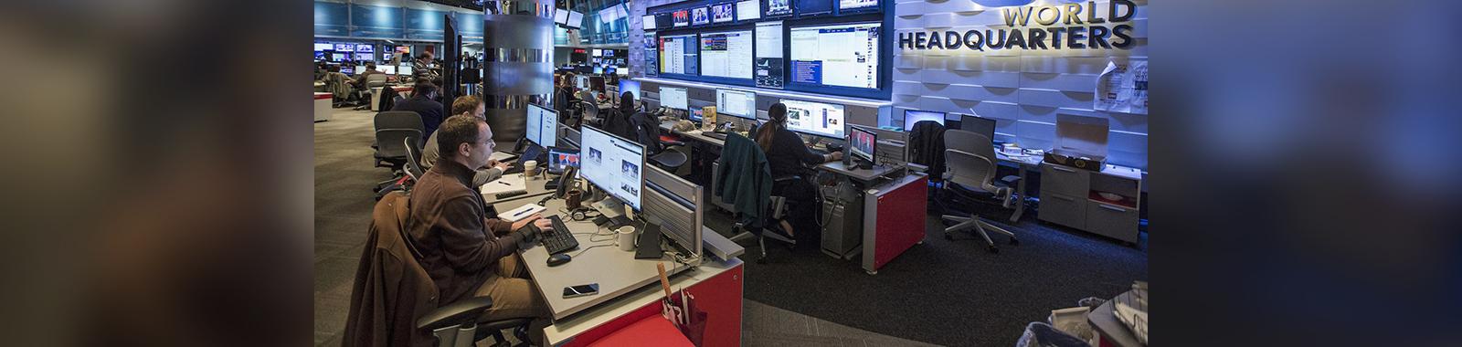 Images of the CNN War Room photographed on Friday, Jan. 8, 2016 in Atlanta, GA.  Photo by John Nowak/CNN