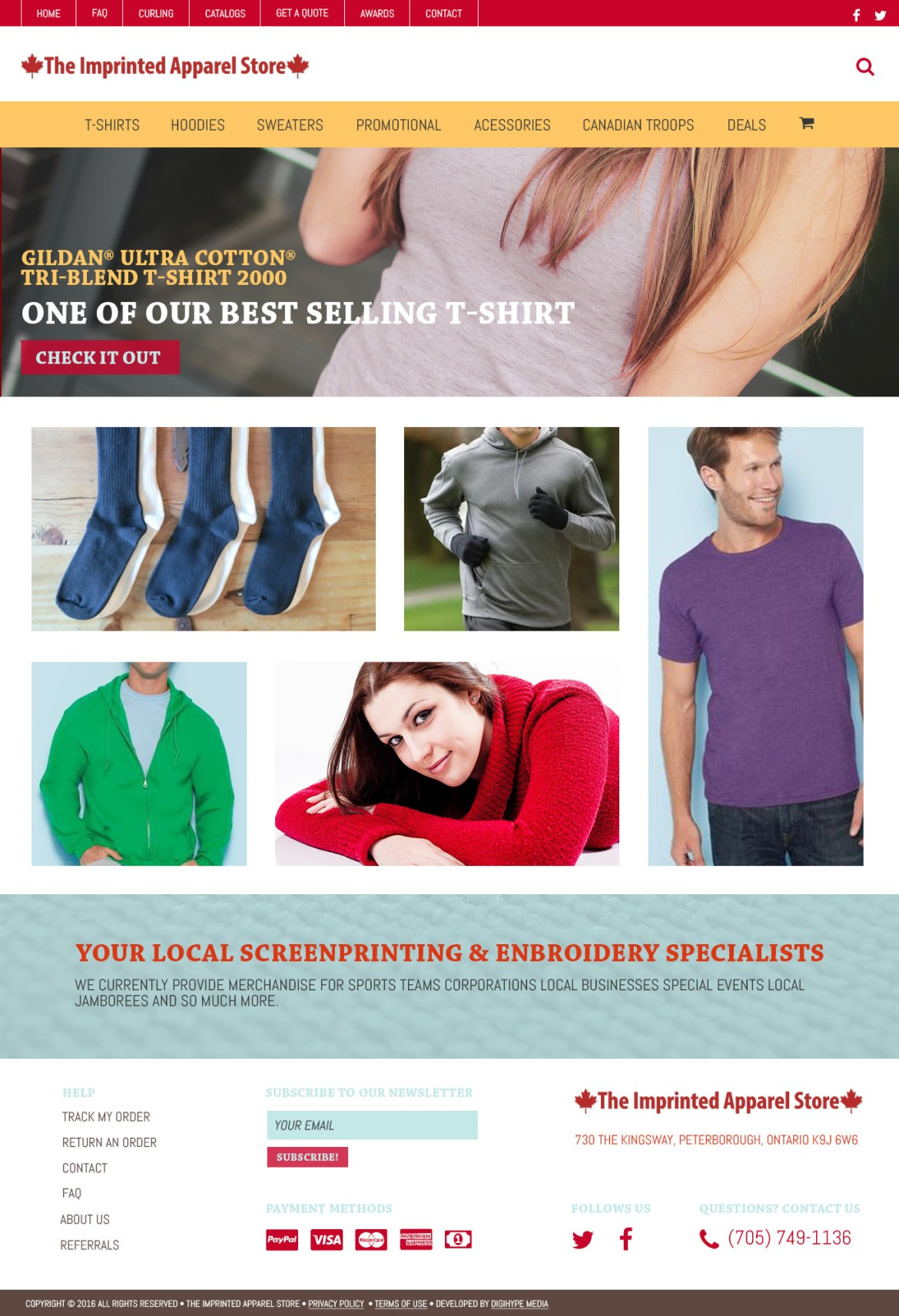 apparel e-commerce shop website design