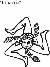 Sicilian Logo Trinacria Medusa Sketch Coloring Page