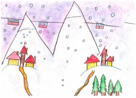 Paesaggi Invernali Disegni Un Paesaggio Invernale Acquerello Foglio X With Paesaggi Invernali