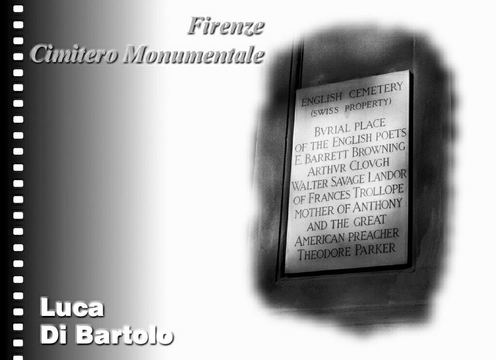 Firenze Cimitero degli Inglesi Luca Di Bartolo Architetto Firenze toscana designer