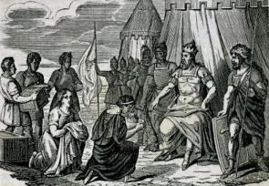 Odoacre riceve Romolo Augustolo