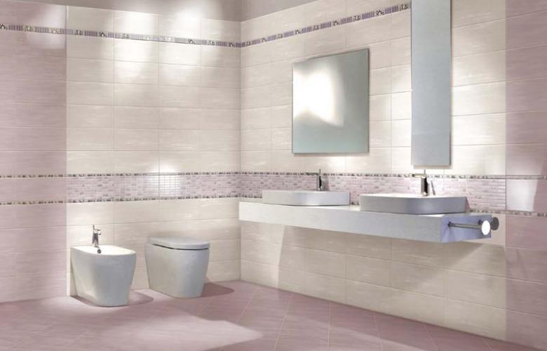 Piastrelle ceramica pavimento rivestimento bagno lilla rosa Edon Glicine Avorio  eBay