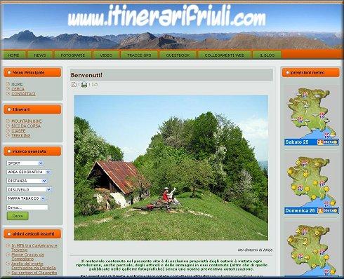 ITINERARI FRIULI. MTB ed ESCURSIONISMO IN FRIULI