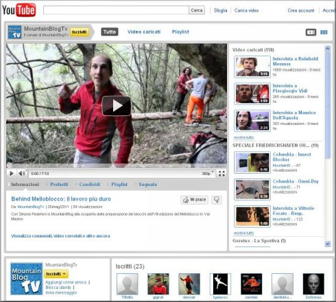 IL CANALE TV DI MOUNTAINBLOG