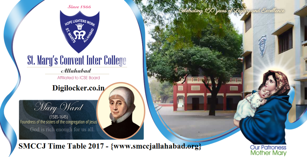 www.smccjallahabad.org-Time Table 2017-St. Mary's Convent Inter College SMCCJ Allahabad Time Table -1st 2nd 3rd 4th 5th 6th 7th 8th 9th 10th 11th 12th Class
