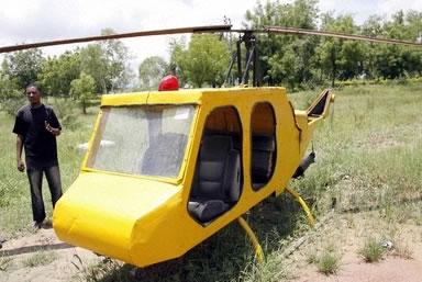 ナイジェリアの大学生がヘリコプターを自作