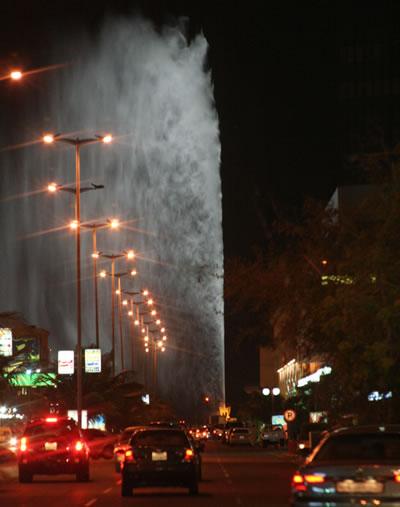世界一の高さの噴水