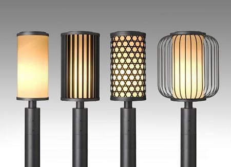 和風デザインの街路照明器具