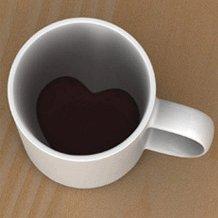 ちょっぴり幸せになれるハートなマグカップ