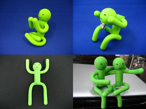ソリッドアライアンス、緑色の人造人間型USBメモリを発売