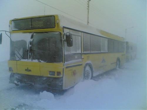 乗ってたら凍死してしまいそうなほど凍っているロシアのバス