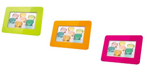 エグゼモード、3色カラバリの鮮やかなデジタルフォトフレームを発売