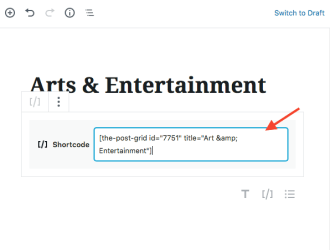 Add posts to a static page WordPress