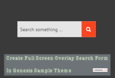 Overlay Search Form genesis