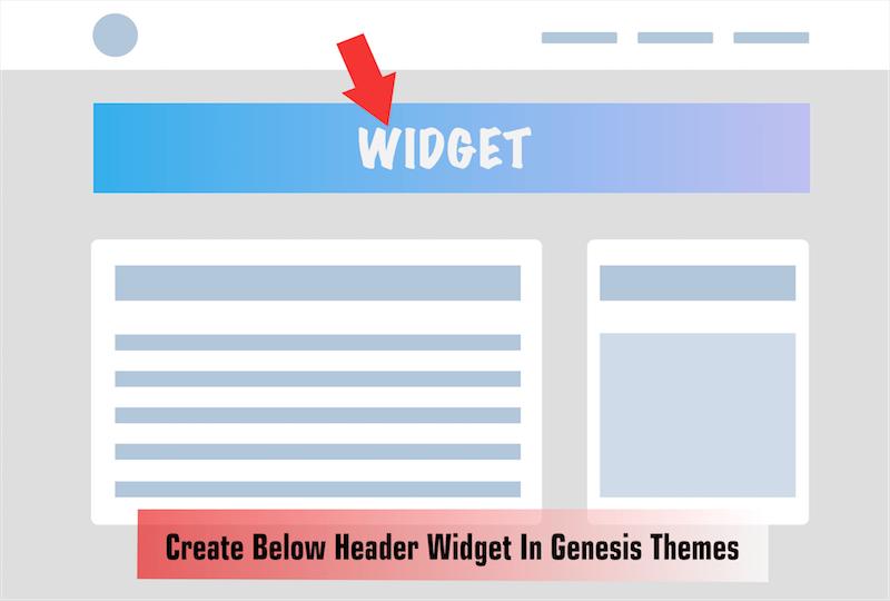 Below Header Widget In Genesis
