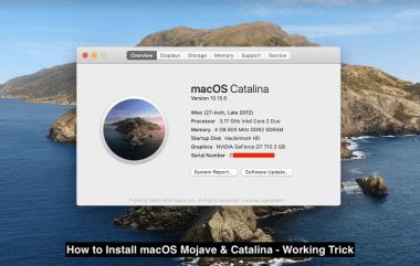 Install macOS Mojave & Catalina