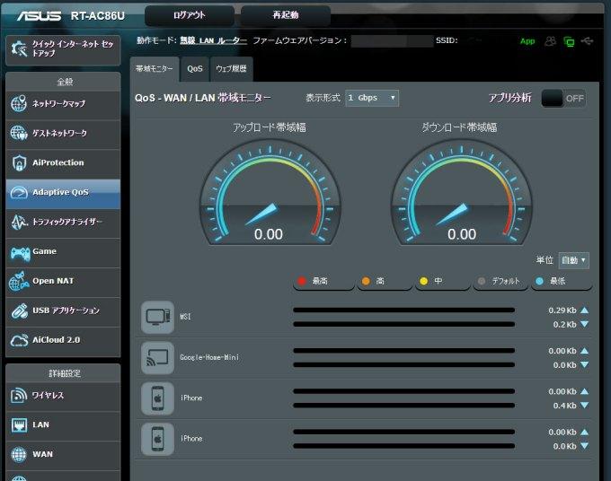 ASUSゲーミングWi-Fi無線ルーター