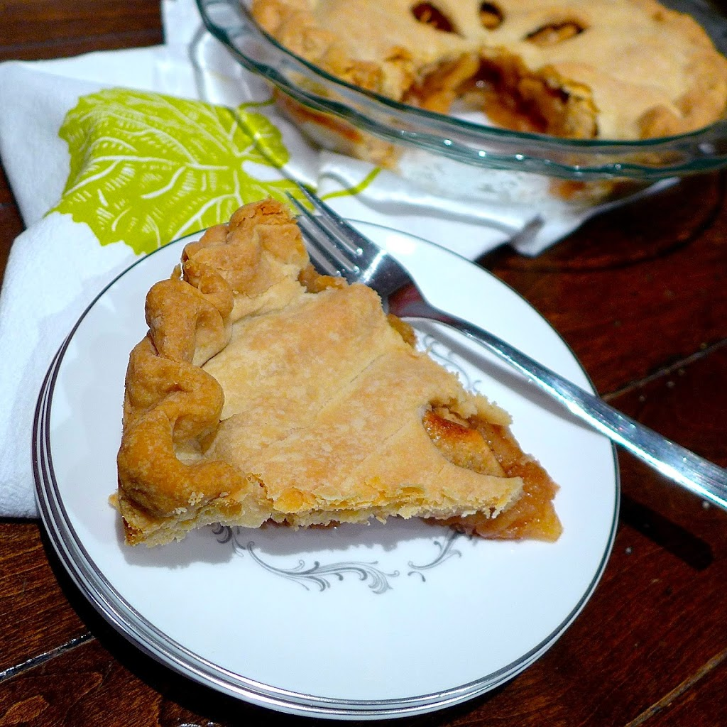 An easy to make double crust pie filled with cinnamon spiced apples.