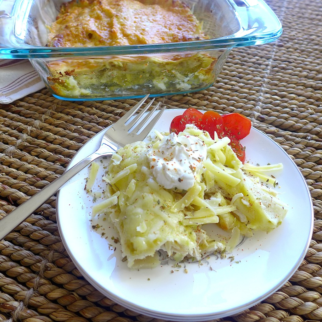 Chicken Enchiladas with Salsa Verde