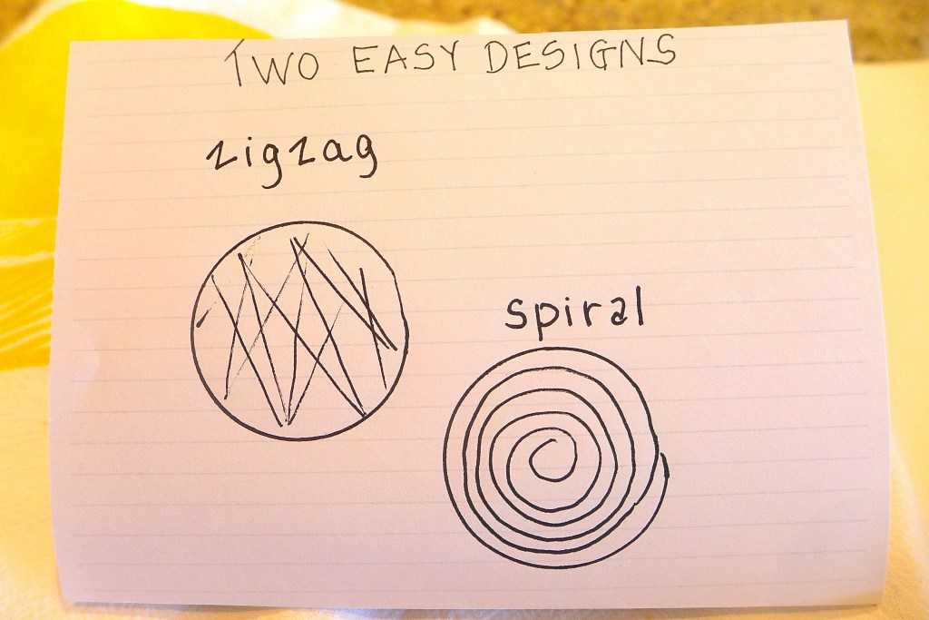 Two Easy Designs: Zigzag or Spiral