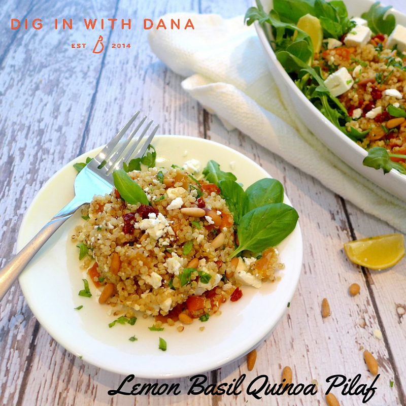 Easy to vary Leon Basil Quinoa Pilaf
