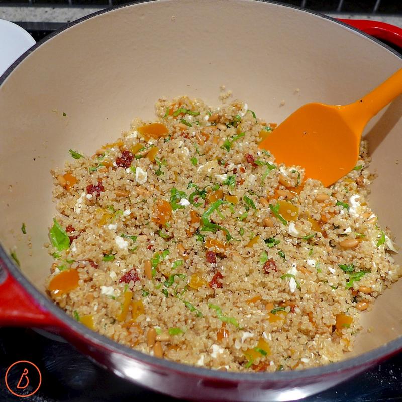 Stir in ingredients, taste and adjust seasonings.