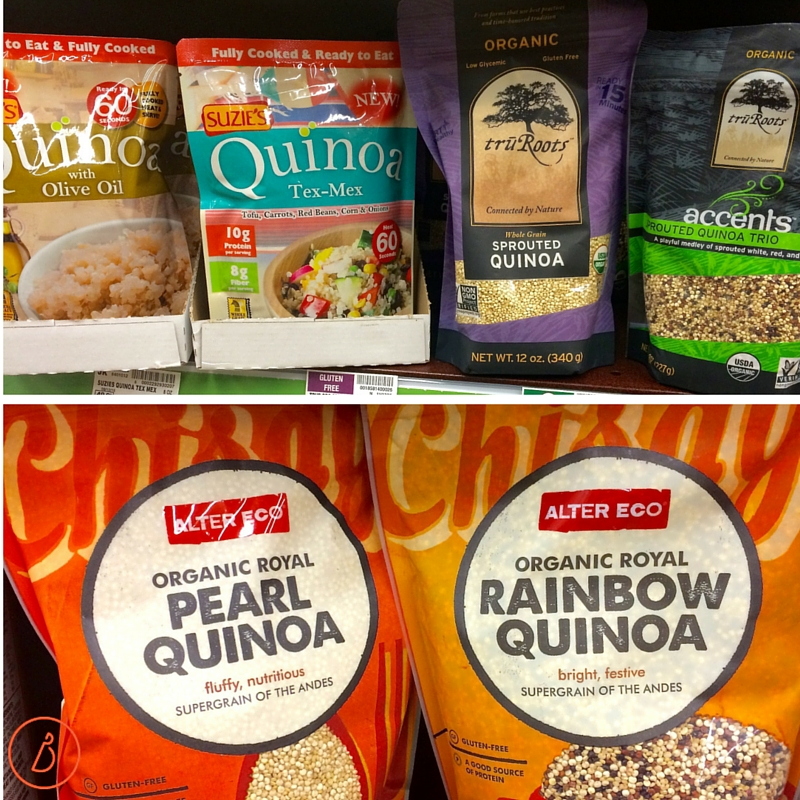 Quinoa comes in many varieties.