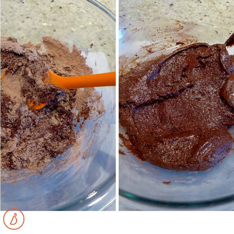 Stir in cake mix until well blended