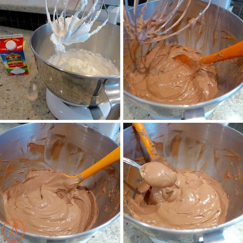 Whip cream, add chocolate-2